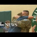 Soldier Surprises Kids at School