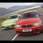 BMW 1-series M vs Porsche Cayman R video review