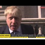 Boris Johnson On Brussels Attacks