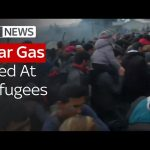 Tear Gas Fired At Refugees
