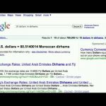 15 second search tip: Currency Conversion